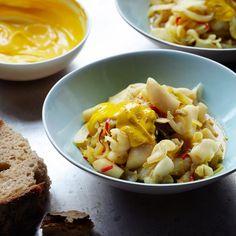 clams with saffron mayonnaise razor clams with saffron mayonnaise ...
