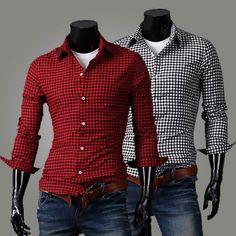 Men's Classic Checkered Button Down Shirt