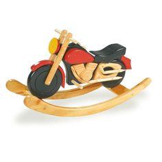 Juguete balancín de #madera al estilo moto chopper para #niños #motricidad #educacion