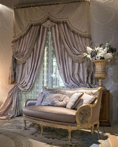 So much work gone into one elegant window treatment!