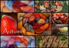 """Kammzug """"Autumn""""  von Ullmaana - Meer aus Wolle auf DaWanda.com"""