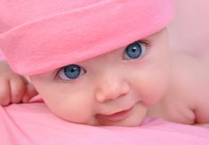 Download wallpaper a happy child, baby, big beautiful blue eyes ...