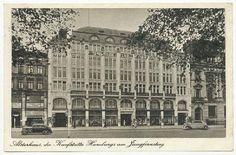 Alsterhaus, die Kaufstätte Hamburgs am Jungfernstieg Hamburg Germany, The Past, History, Luxury, Places, Travel, Hamburg, Germany, Europe