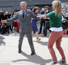 Charles hit the Dance-O-Mat with Lisa Shannon during a visit to Christchurch, New Zealand last year, but says at his age he dances less.
