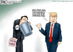 Trump has terminated FBI Director Comey, and now the left is trying to spin it into a weapon against the president. Cartoon by A.F. Branco ©2017.