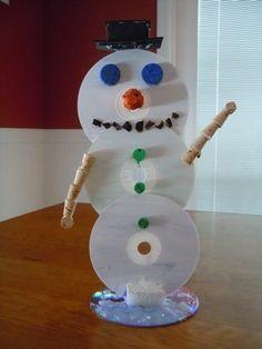 Let is Snow! CD Recycle Snowman So Upcycle-y cute #preschool