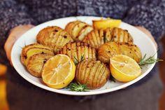 rosemary, garlic potatoes