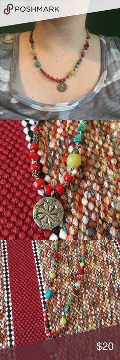 Selling this Sundance bronze circle charm beaded necklace on Poshmark! My username is: emmasglasses. #shopmycloset #poshmark #fashion #shopping #style #forsale #sundance #Jewelry