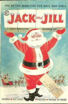 Vintage Jack and Jill, Santa Claus Cover.  Dec 1953