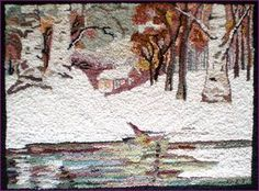 Rug Hooking Frames, Rug Hooking Patterns, Wool Mats, Wool Rug, Wooly Bully, Vintage Hooks, Art Mat, Rug Inspiration, Ecole Art