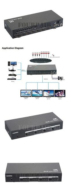Splitters and Combiners: 4X4 Hdmi 1.4 4K Matrix Switch Splitter Selector Edid Ir And Rs232 Control W Remote -> BUY IT NOW ONLY: $179.95 on eBay!