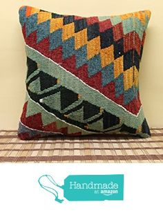 Turkish kilim pillow cover 16x16 inch (40x40 cm) Decorative Kilim pillow cover Sofa Decor Stripe Pillow cover Cushion Cover from Kilimwarehouse http://www.amazon.com/dp/B019IN8BN2/ref=hnd_sw_r_pi_dp_o3rDwb08W9F1Y #handmadeatamazon