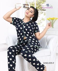 Kavyansika 459 Premium Hosiery Night Suit Collection | Maajisa Group Night Outfits, Fashion Outfits, Night Suit For Women, Buy Suits, Girl Number For Friendship, Indian Actress Pics, Designs For Dresses, 2 Piece Outfits, Indian Outfits