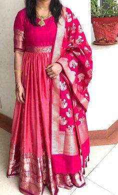 Punjabi Dress, Anarkali Dress, Anarkali Suits, Half Saree Designs, Sari Blouse Designs, Floor Length Dresses, Long Dresses, Indian Outfits, Indian Clothes