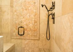 This Vail, CO home's luxurious master suite shower will sooth and relax after a day on Vail Mountain. #vailrealestate #vailliving #vailproperties