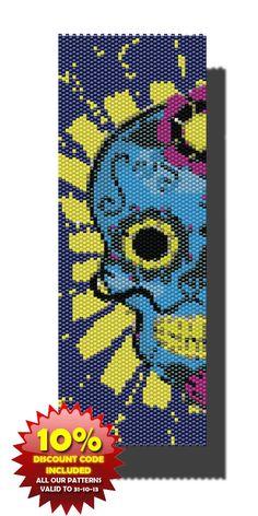 Blue Sugar Skull PEYOTE Pattern Beaded by DragonsLairPatterns, £3.95