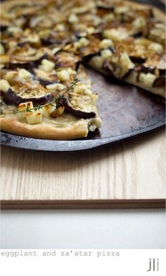 eggplant and za'atar pizza - This would be great on a cool, Fall ...