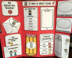 End of Year Lapbook. Great activity and keepsake for students