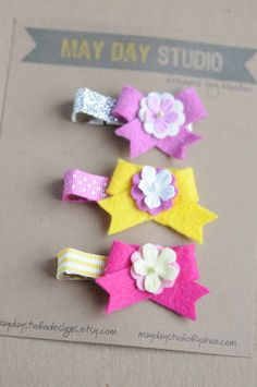 baby toddler girls alligator hair clips by maydaystudiodesigns, $11.00