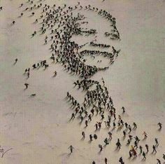 Durban pay special tribute to Madiba with beach art of Nelson Mandela Nelson Mandela, Mandela Art, Mandela Quotes, African American Art, African Art, American History, African Life, African Design, African Style