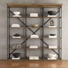 homehills lubeck vintage oak wide bookshelf wide bookshelfbookshelvesfree standing - Free Standing Bookshelves