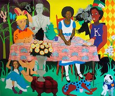 Nina Chanel Abney... my favourite of the work from the 30 Americans show up at Corcoran