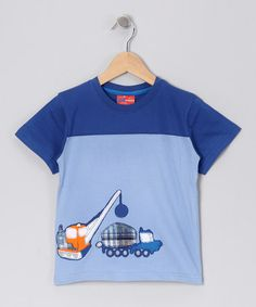 Take a look at this Light Blue Cement Truck Tee - Toddler & Boys by CRugged on #zulily today!
