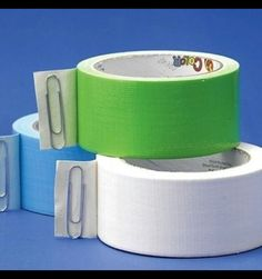Never lose the end again! Put a #paperclip on the end of your tape roll. #lifehack