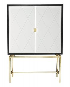 I love the look of this bar. Adds some flair to the room. Jet Set Bar Cabinet | Bernhardt