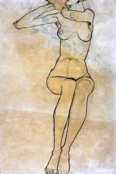 """zzzze: """" Egon Schiele - Seated Nude nd, 
