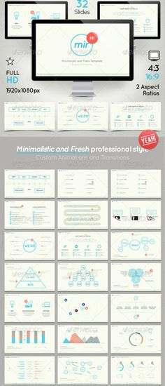 Simplistic Power Point Presentation Template Presentation - professional power point template