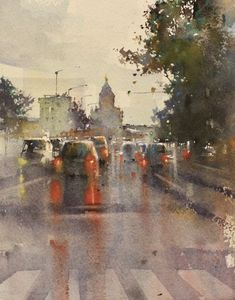 SYKSYN TUNTUA Watercolours, Painting, Art, Watercolor Architecture, Art Background, Painting Art, Kunst, Paintings, Performing Arts