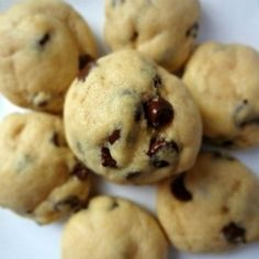 Chocolate Chip Cookie Dough Balls-everything you love about cookies and cookie dough, all rolled into one!
