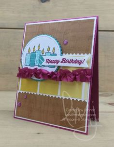 Birthday Candles | Stampin\' Up! | Merry Patterns | Sheet Music | Birthday Banners #literallymyjoy #candles #birthday #happybirthday #celebrate #music #WoodTexturesDSP #ColorTheoryDSP #20172018AnnualCatalog