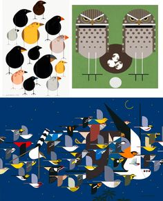 charley harper – To Be An Electric Telegraph E Bird, Bird Art, Retro Graphic Design, Decoupage Glass, Charley Harper, Stamping, Kids Rugs, Lettering, Quilts