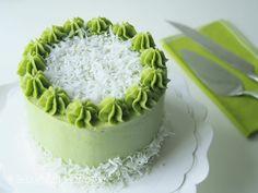 Onde Onde Cake, Cake, Pandan Cake, Pandan Swiss Meringue Buttercream, Pandan Cake with Gula Melaka