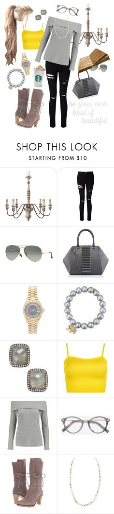 """Be your own kind of beautiful. #DistressedDenim"" by k4fitnesskrystal ❤ liked on Polyvore featuring Aidan Gray, Miss Selfridge, Ray-Ban, Kristina George, Rolex, Sydney Evan, Paul & Pitü Naturally, WearAll, Splendid and Ace"