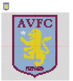 Image result for aston villa cross stitch pattern