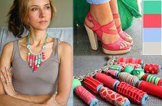 Strawberry Love - Necklace by VeruDesigns, via Flickr