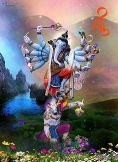 Chaitanya bag Jai Ganesh, Ganesh Lord, Ganesh Idol, Ganesh Statue, Shree Ganesh, Ganesha Pictures, Ganesh Images, Shiva Art, Ganesha Art