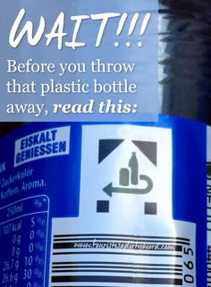 ​WAIT! Before you throw that plastic bottle away....recycling in Germany...#pfand by Tourist Is A Dirty Word