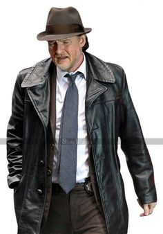 Harvey Bullock Gotham Donal Logue Black Leather Jacket Trench Coat at discounted price. Available in genuine leather at discounted price. Bullock Gotham, Harvey Bullock, Gotham Series, Tv Series, Leather Pants, Black Leather, Leather Jackets, Tall Guys, Tall Men