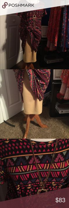 Lularoe NWT Carly and Cassie Super soft carly w geo metric design w many colors including mustard Nd brown cassie is solid mustard in medium. LuLaRoe Dresses Asymmetrical