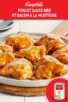 Yummy Chicken Recipes, Meat Recipes, Slow Cooker Recipes, Crockpot Recipes, Cooking Recipes, Recipies, Crispy Honey Chicken, Cambells Recipes, Campbells Soup Recipes