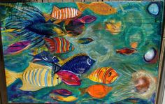 Under The Sea Original Acrylic Painting by ArtForComfort on Etsy