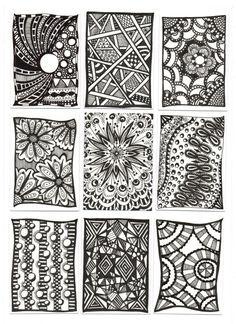 zentangle pattern ideas | Zentangle ideas | Craft - Patterns/Design elements