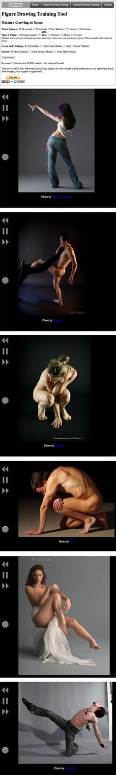 figure and gesture drawing tool. for when nobody wants to pose nude. ha.