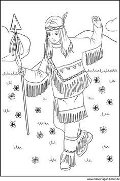 zeichnung-indianer-maedchen
