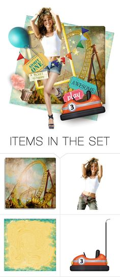 """Life's a Roller Coaster, Enjoy the Ride"" by kbarkstyle ❤ liked on Polyvore featuring art"