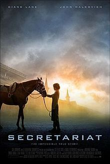 """One of my favorite movies of all time, """"Secretariat."""" Cry every time he wins the Belmont race at the end."""